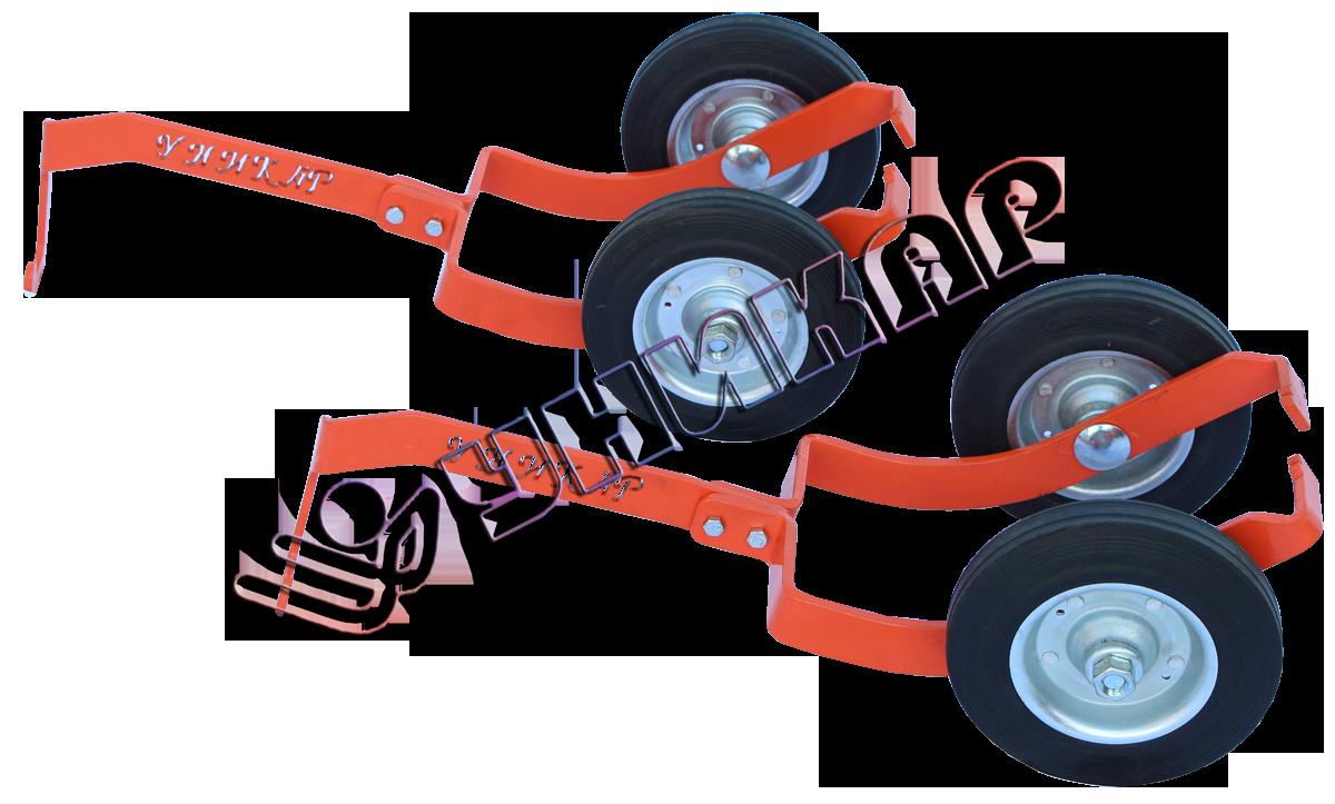 Подкатные колеса для лыж снегохода (узкие)