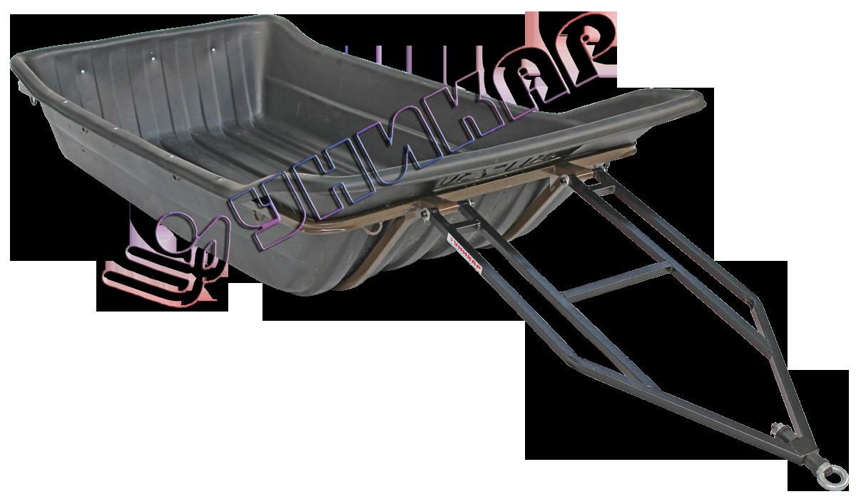 Волокуши С-230 с отбойником (на металлическом каркасе с полозьями)
