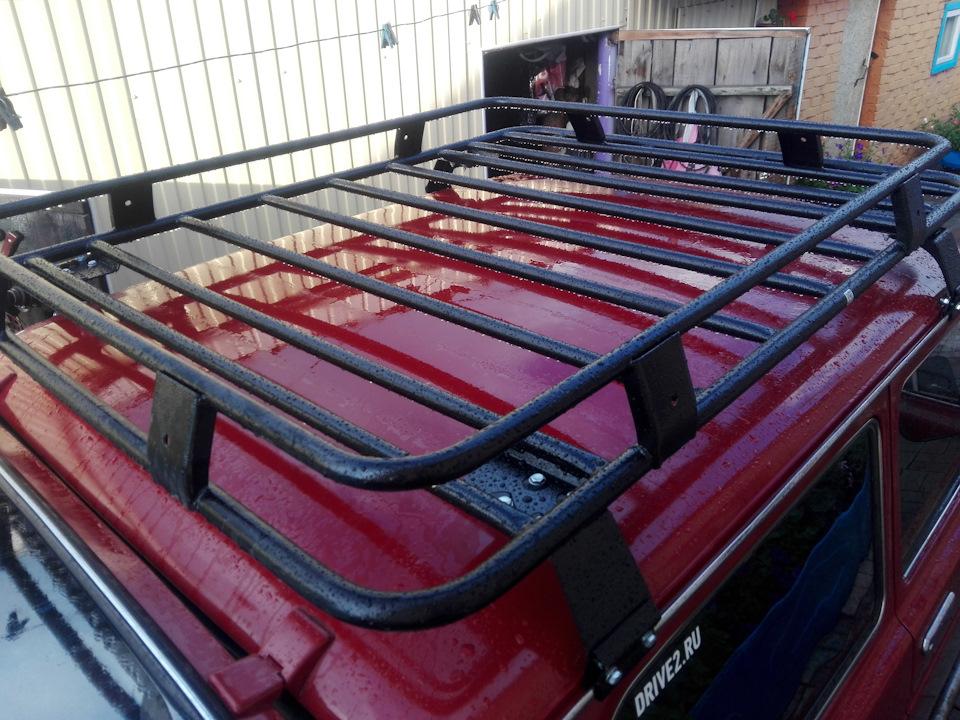 Отзыв на багажник ВАЗ 2121 Нива корзина без сетки
