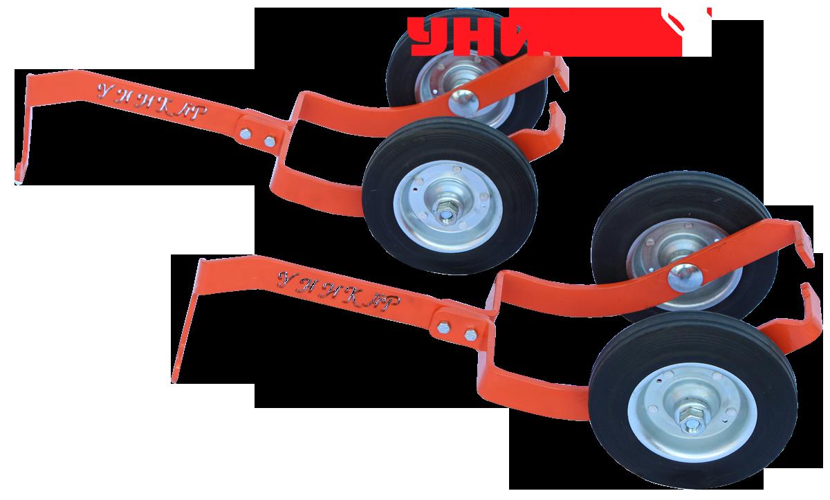 Подкатные колеса для лыж снегохода (широкие)